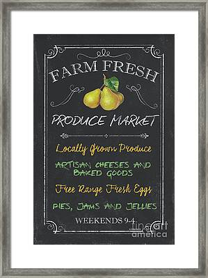 Farm Fresh Produce Framed Print