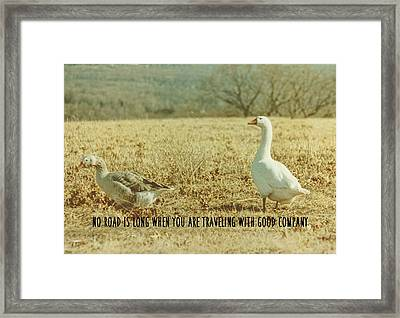 Farm Geese Quote Framed Print by JAMART Photography