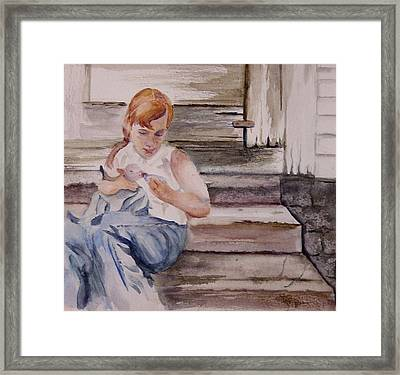 Farm Girl Framed Print