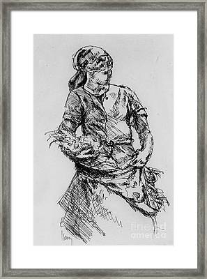 Farm Girl Framed Print