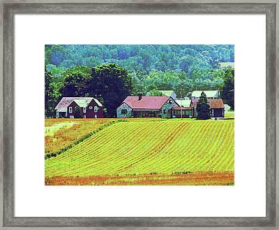 Farm Homestead Framed Print by Susan Savad