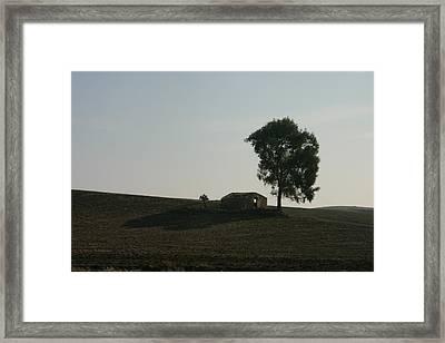 Farm House Alone. Framed Print by Dennis Curry