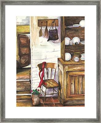 Framed Print featuring the painting Farm House by Darren Cannell