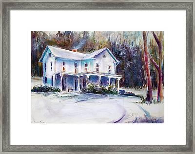 Farm House Framed Print by Joyce A Guariglia