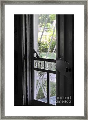 Farm House Screen Door Framed Print by Wilma  Birdwell