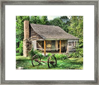 Farm House Framed Print by Steven Richardson