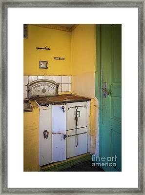 Farm House Stove Framed Print by Inge Johnsson