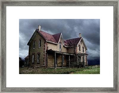 Farm House Framed Print by Tom Straub