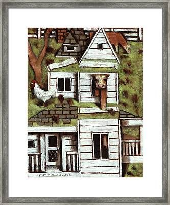 Framed Print featuring the painting Tommervik Farmhouse Art Print by Tommervik