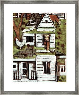 Tommervik Farmhouse Art Print Framed Print by Tommervik