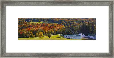 Farm In Autumn  Knowlton, Quebec, Canada Framed Print by David Chapman