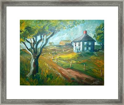 Farm In Gorham Framed Print by Joseph Sandora Jr