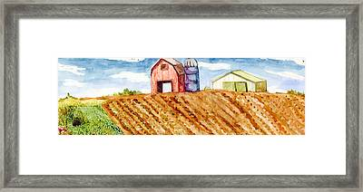 Farm In Spring Framed Print