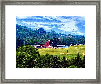 Farm In The Distance Framed Print by Susan Savad