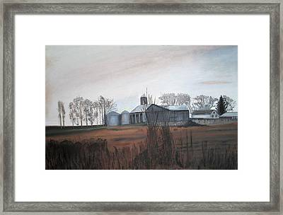 Farm In The Fall Framed Print by Keith Bagg