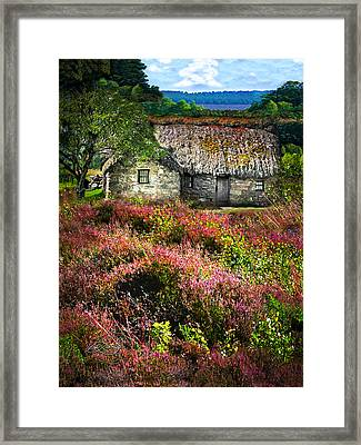 Farm In The Heather Framed Print