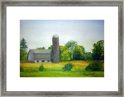 Farm In The Pine Barrens  Framed Print by Sheila Mashaw