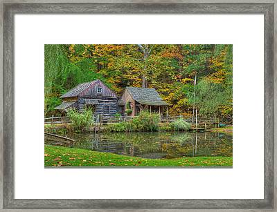 Farm In Woods Framed Print by William Jobes