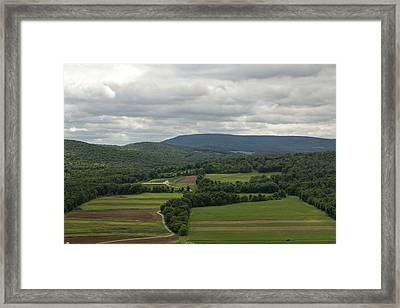 Farm Land Framed Print