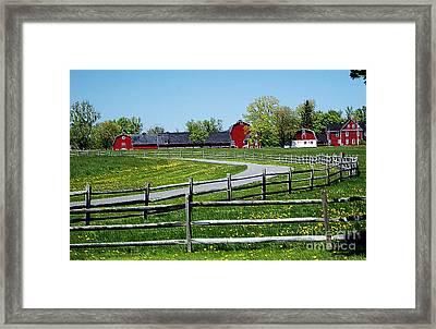 Farm Landscape Framed Print by Kathleen Struckle