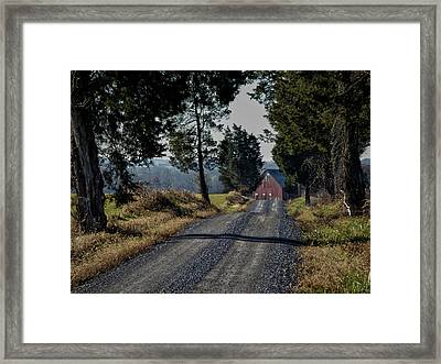 Framed Print featuring the photograph Farm Lane by Robert Geary