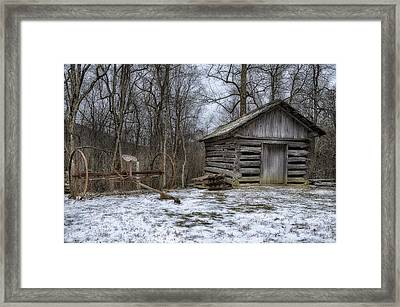 Farm Life From The Past Framed Print by Steve Hurt