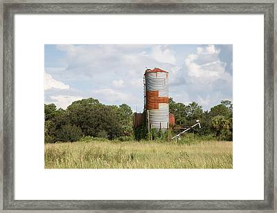 Farm Life - Retired Silo Framed Print