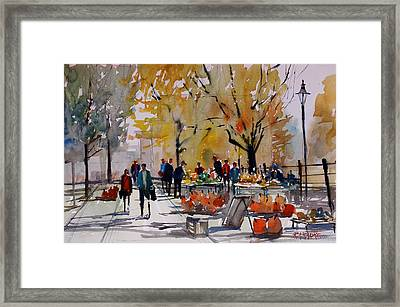 Farm Market - Menasha Framed Print by Ryan Radke