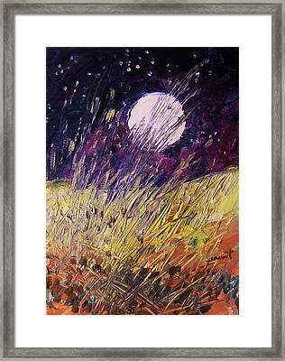 Farm Moon Framed Print by John Williams