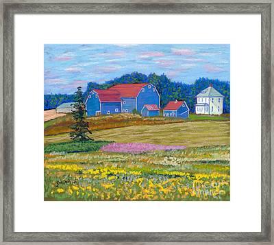 Farm On Prince Edward Island Framed Print