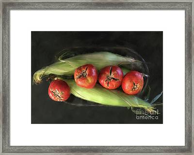 Framed Print featuring the digital art Farm Produce by Lois Bryan
