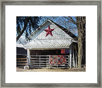 Farm Quilt Framed Print
