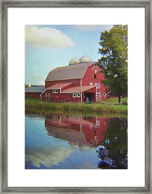 Farm Reflection Framed Print by JAMART Photography