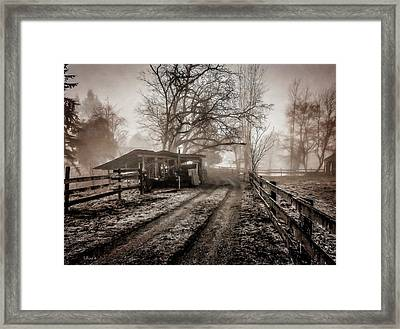 Farm Road Late Autumnl. Framed Print