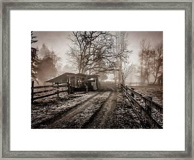 Farm Road Late Autumnl. Framed Print