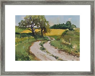 Farm Road Framed Print by Spencer Meagher