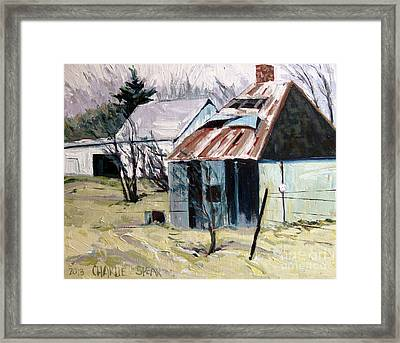 Farm Sale Framed Print by Charlie Spear