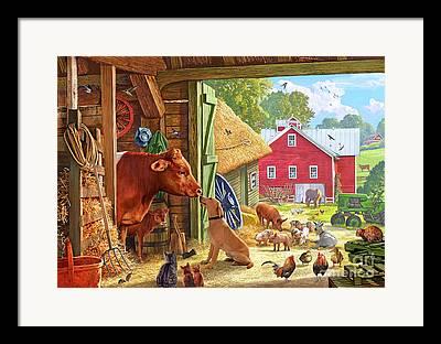 Cockrels Framed Prints