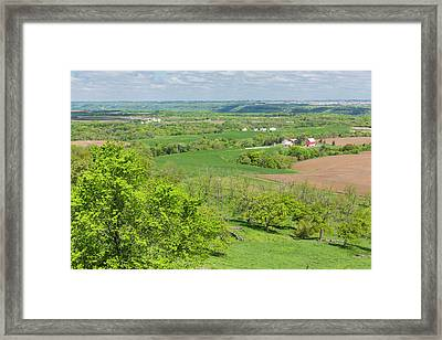Farm Scenic Vista Ia 2 Framed Print