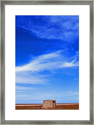 Farm Shed Under Texas Sky 1 Framed Print by James Granberry