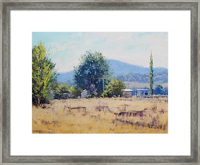 Farm Sheds At Trmut Framed Print by Graham Gercken