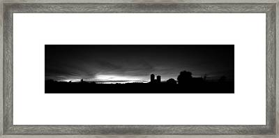 Farm Silhouette II Framed Print by William Haney