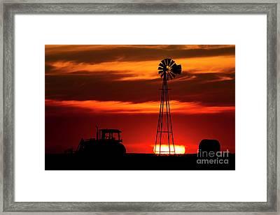 Farm Silhouettes Framed Print