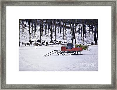 Farm Sleigh Framed Print by Nicki McManus