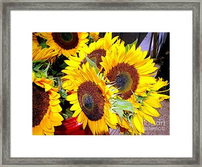 Farm Stand Sunflowers #1 Framed Print