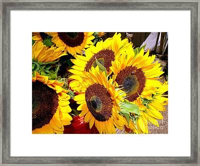 Farm Stand Sunflowers #2 Framed Print by Ed Weidman
