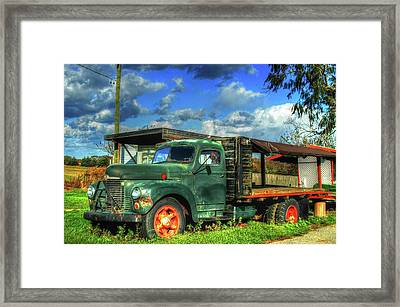 Farm Stand Truck Framed Print by Terry McCarrick