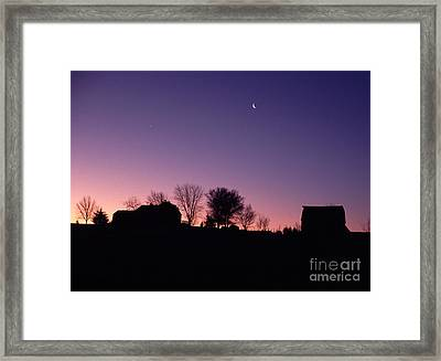 Farm Sunrise Framed Print