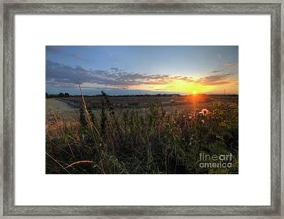 Farm Sunset Framed Print
