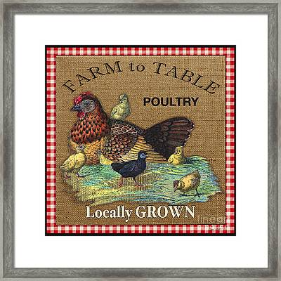 Farm To Table-jp2388 Framed Print by Jean Plout